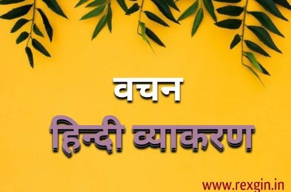 वचन क्या है vachan in Hindi