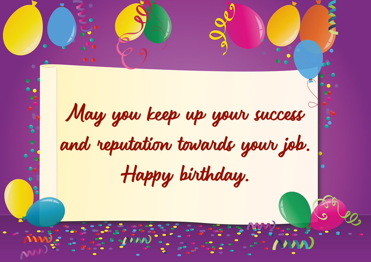 Happy birthday wishes for coworker