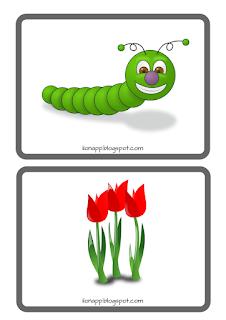 karty obrazkowe wiosna