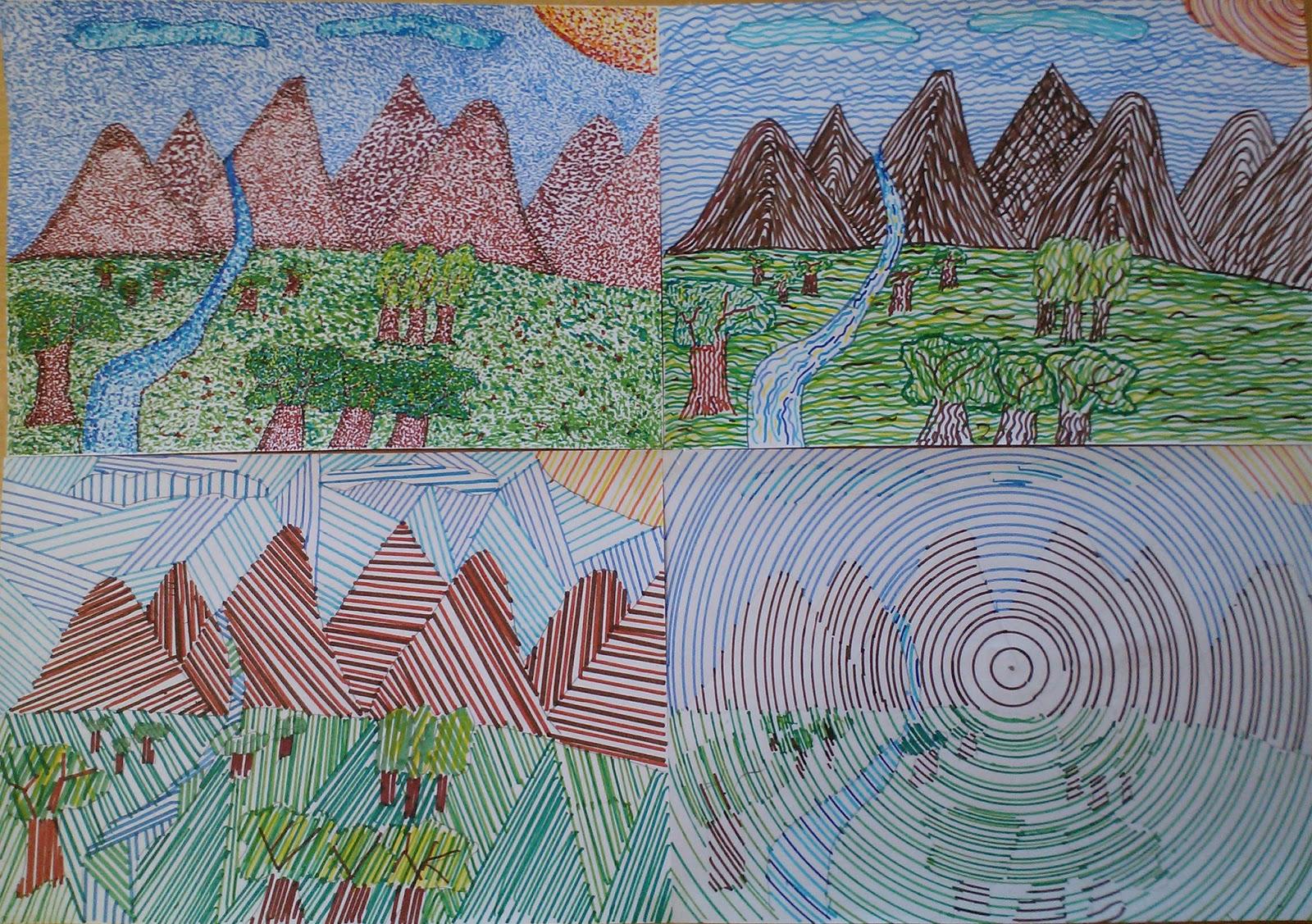 Dibujo De Lineas Paisaje: Dibujos De Paisajes Con Lineas