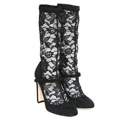 dolce gabbana lace boots