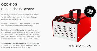 máquina portátil de ozono