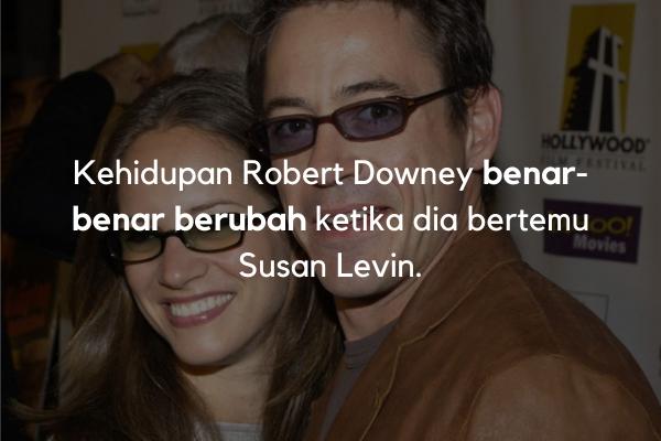 Robert Downey bertemu Susan Levin