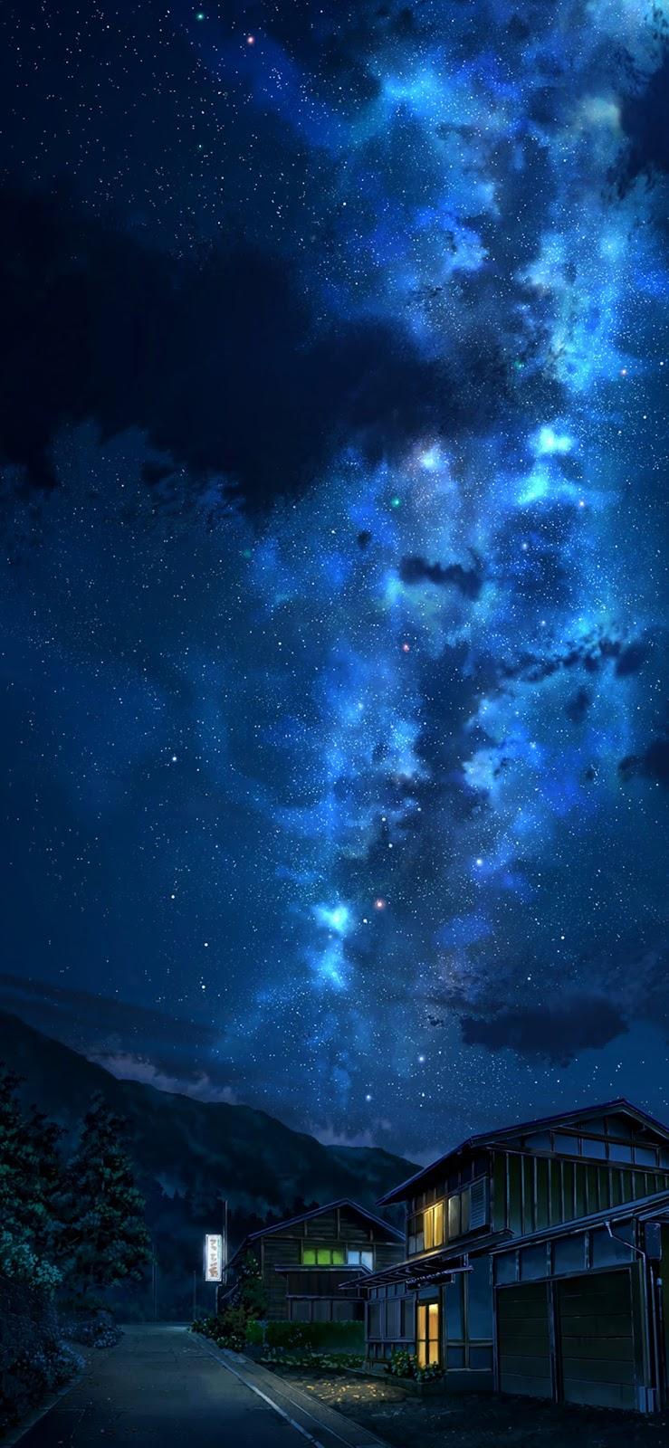 Hình nền bầu trời đêm đầy sao cho iPhone XSMAX
