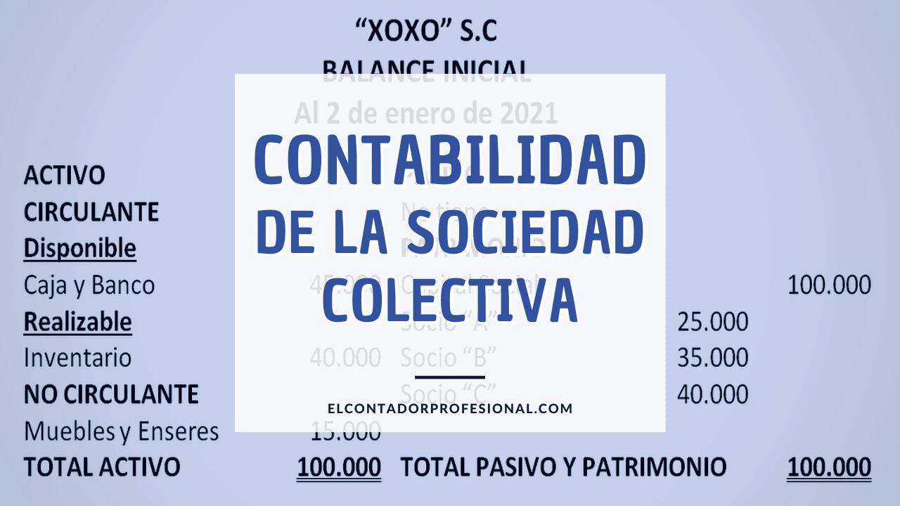contabilidad sociedad colectiva