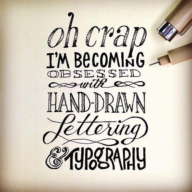 Inspirasi desain tipografi terbaik dan terbaru - Hand Drawn Lettering by The Lettering Supply Co.