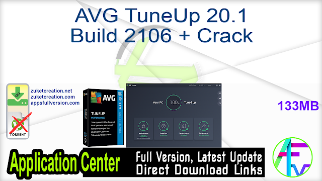 AVG TuneUp 20.1 Build 2106 + Crack