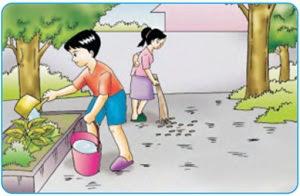 Menjaga kebersihan