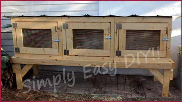 Simply easy diy diy rabbit hutch for What is a rabbit hutch