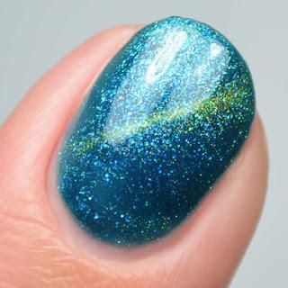 teal cat eye magnetic gel nail polish