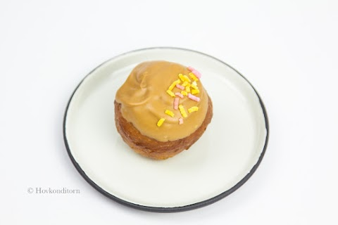 Donuts with Toffee Glaze