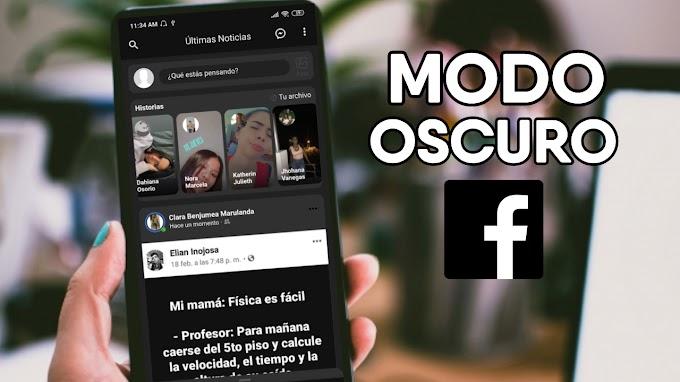 ASI PUEDES ACTIVAR FACEBOOK EN MODO OSCURO