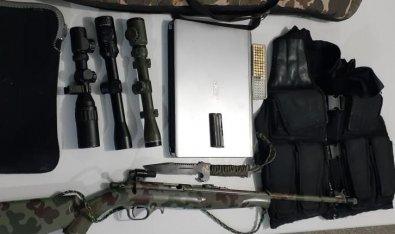 Ladrão de carabina 22 com luneta é preso em Cuiabá