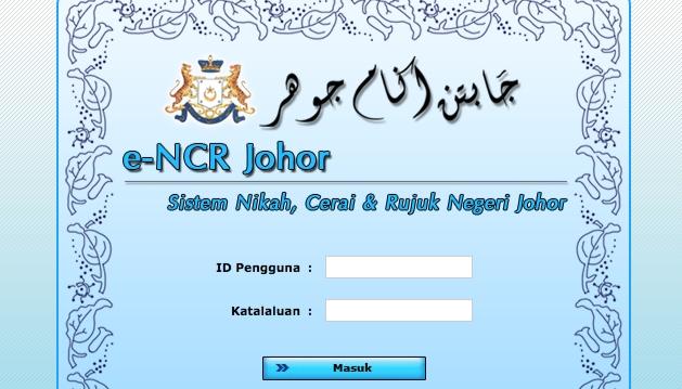 Permohonan Nikah Online Johor 2020 (Borang)