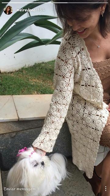 wzory swetrów z kwadratow