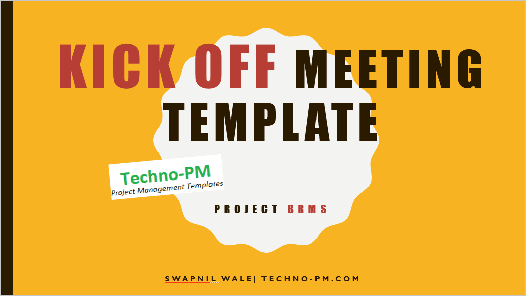 Project Kickoff Meeting Template Download - Free Project ...