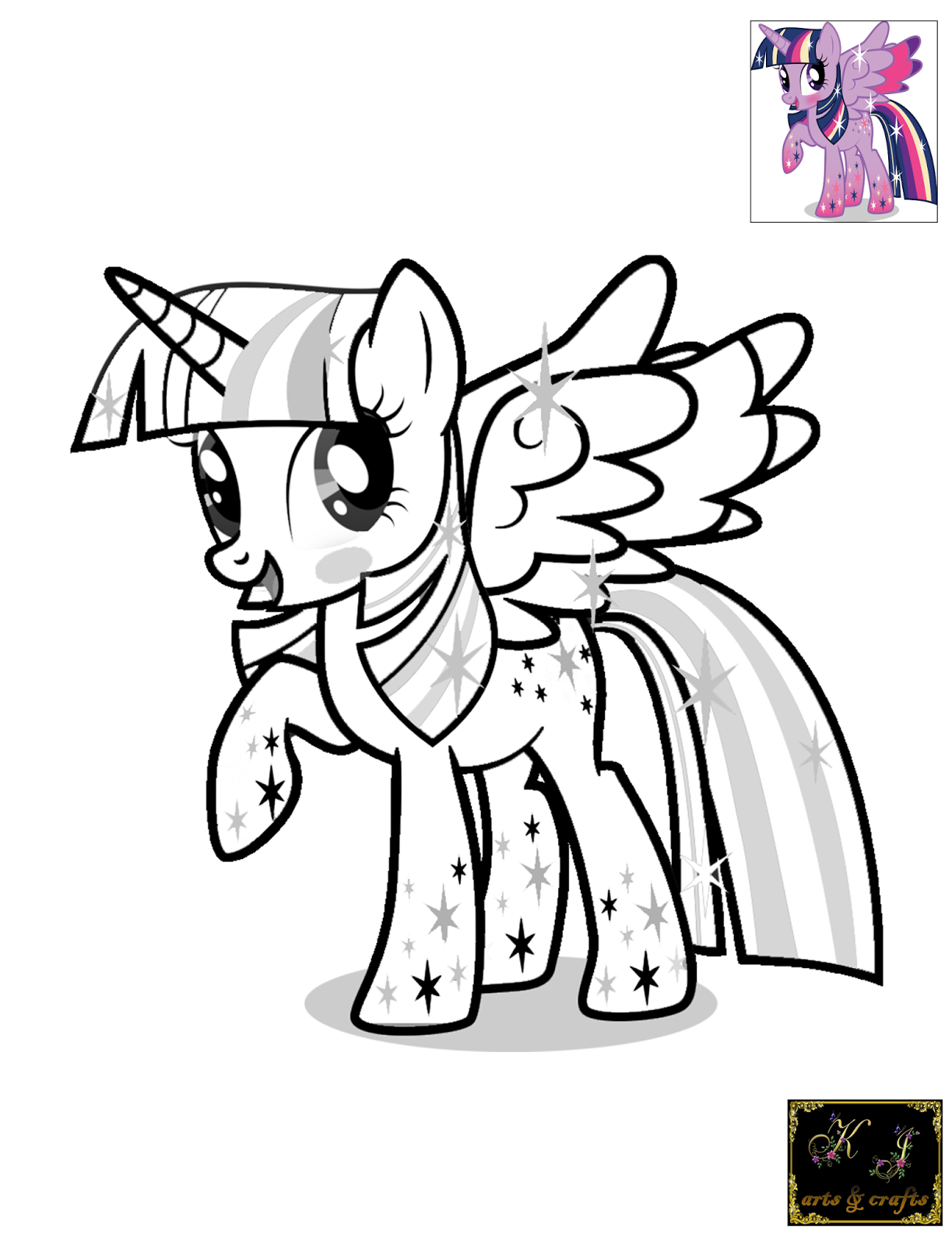 Twilight Sparkle coloring pages to download and print for free |Twilight Sparkle Face Coloring Page