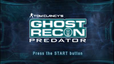 تحميل لعبة Tom Clancys Ghost Recon Predator لأجهزة psp ومحاكي ppsspp
