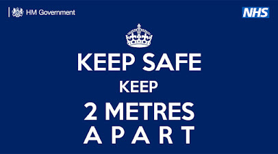 2 metres apart
