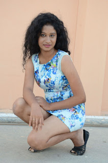 Actress Priyankha Stills in Floral Short Dress at Golmal Gullu Movie Pressmeet 0311.JPG