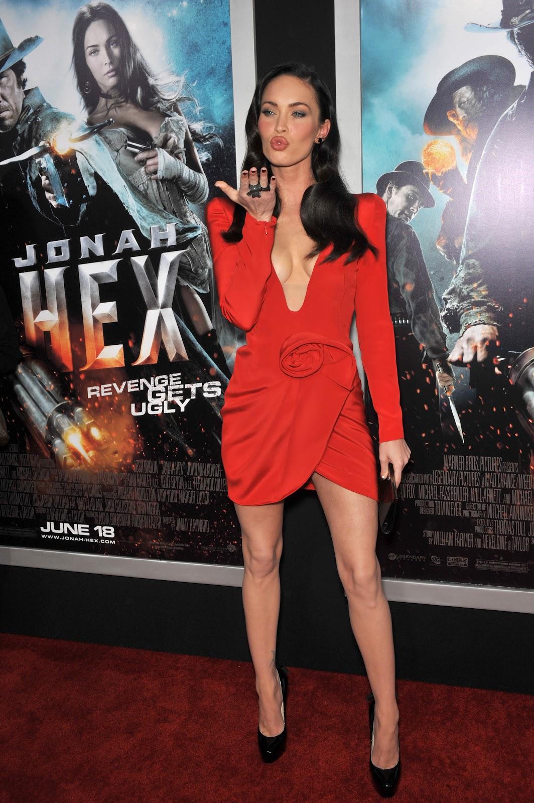 Megan Fox Hot in Red D...