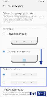 Ustawienia Kolejność Przycisków Nawigacyjnych
