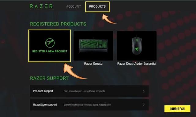 Cara Registrasi Produk di Akun Razer Official