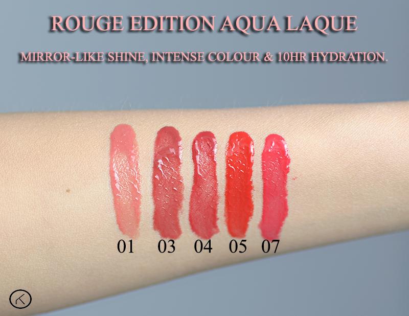 Bourjois Rouge Edition Aqua Laque 01 Appechissant 03 Brun Croyble 04 viens si tu roses 05 red my lips 07 fucshin perche