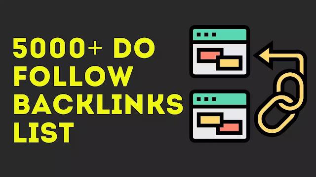 DO FOLLOW BACKLINKS SITES LIST
