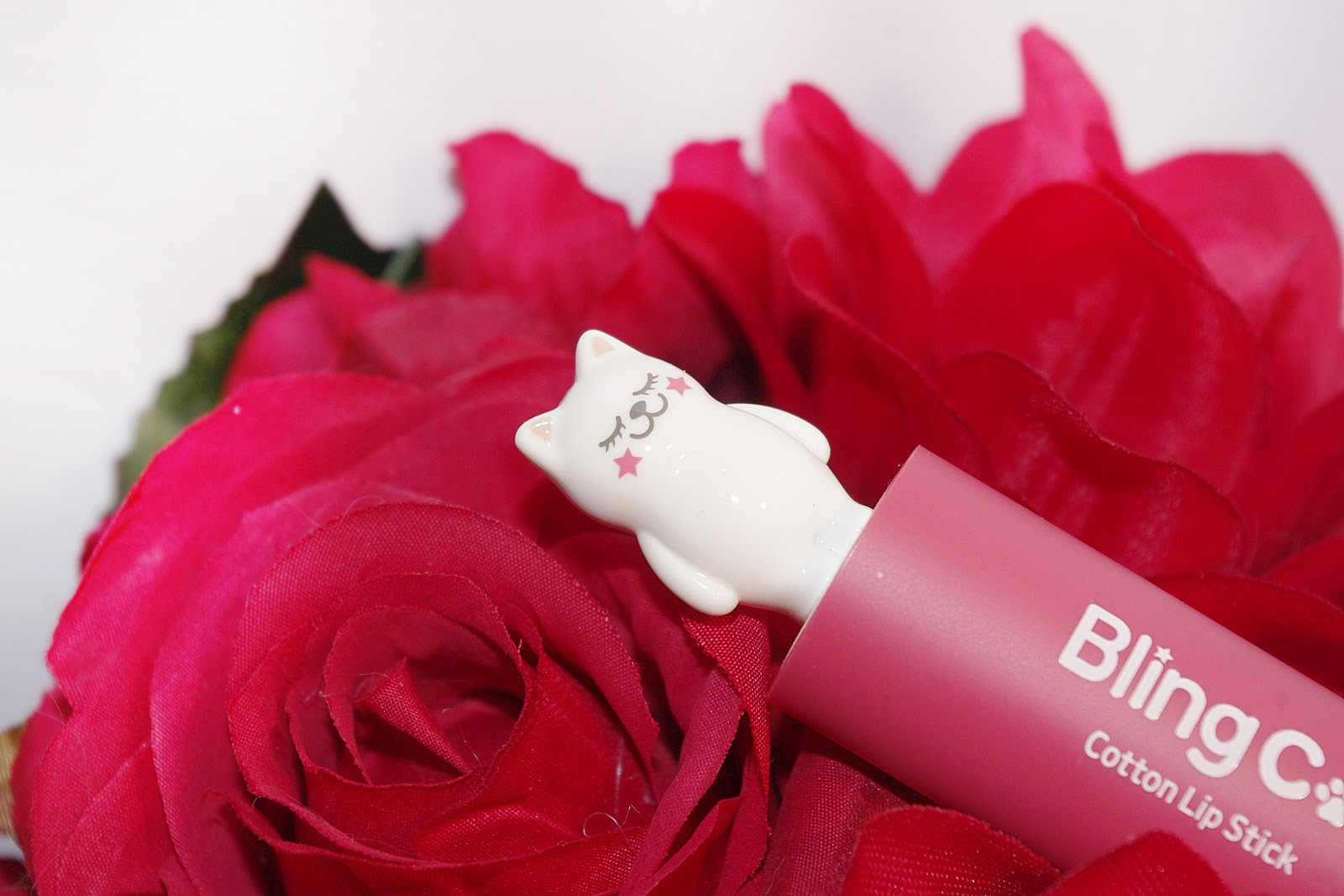 TonyMoly Bling Cat Cotton Lipstick 02 Heroine Pink