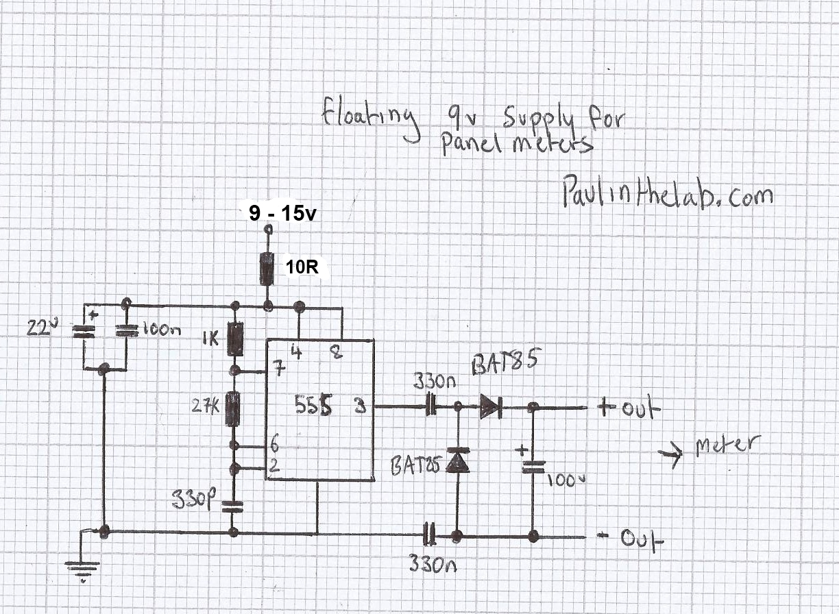 Paul In The Lab: Floating Power Supply For DVM Panel