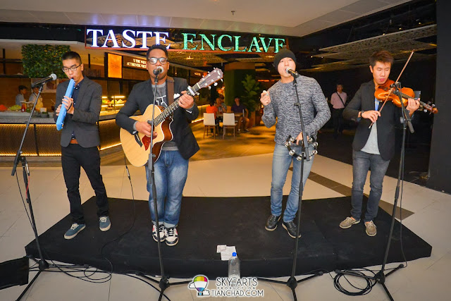 Love the music band who performed live @ Taste Enclave Foodcourt Launching just now