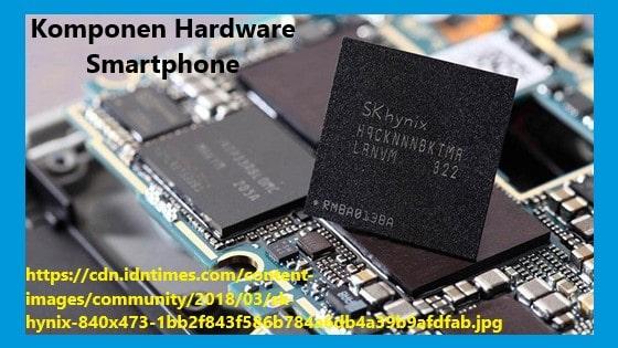 salah satu perangkat keras smartphone yaitu CPU, RAM dan memory