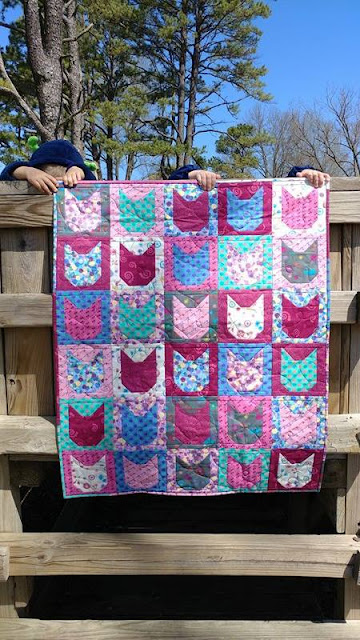 Kitty cat quilt for charity