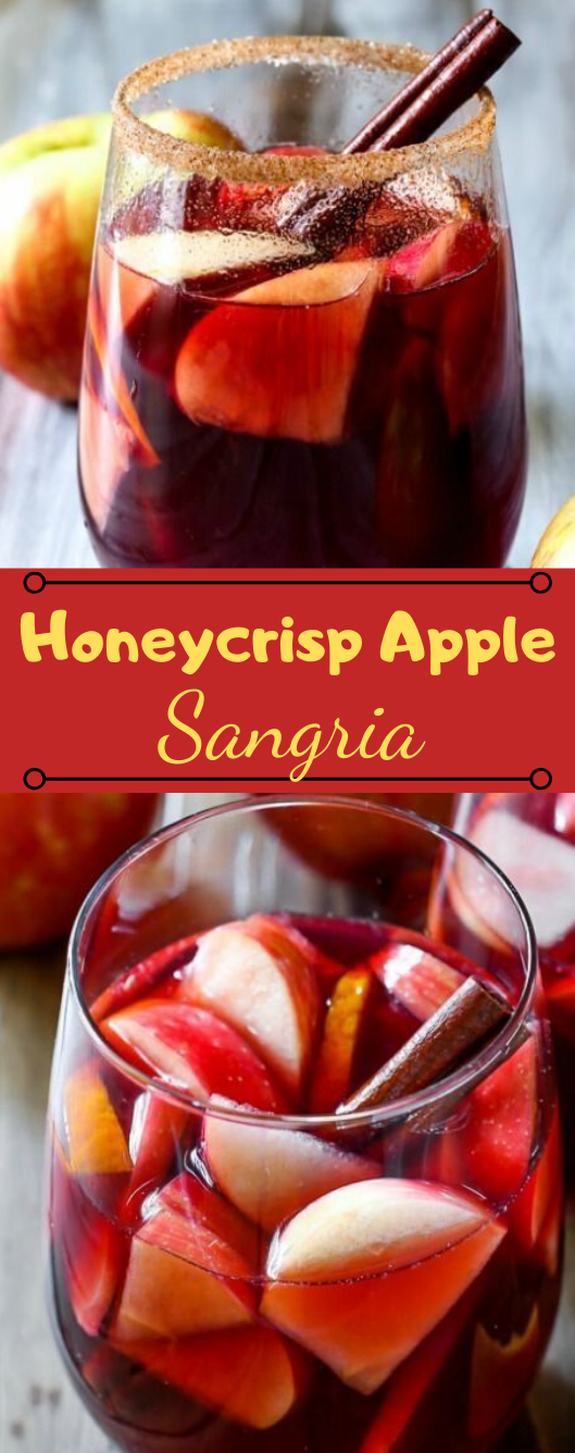 Honeycrisp Apple Sangria #apple #sangria #drink #cocktail #smoothie