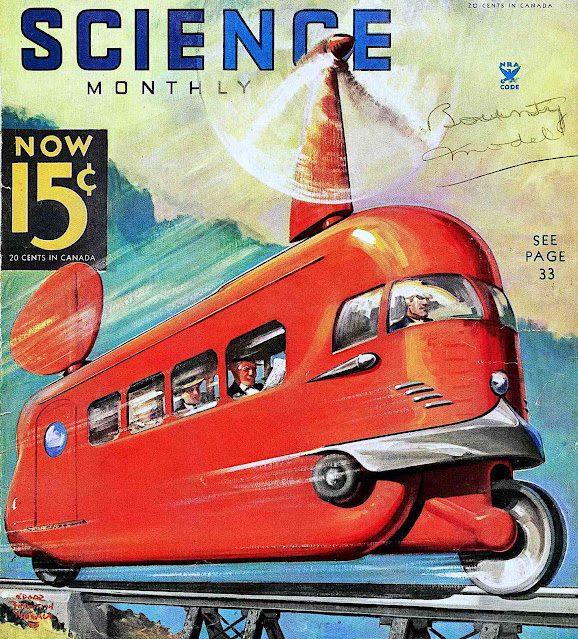 1935's vision of future transit, Science Monthly
