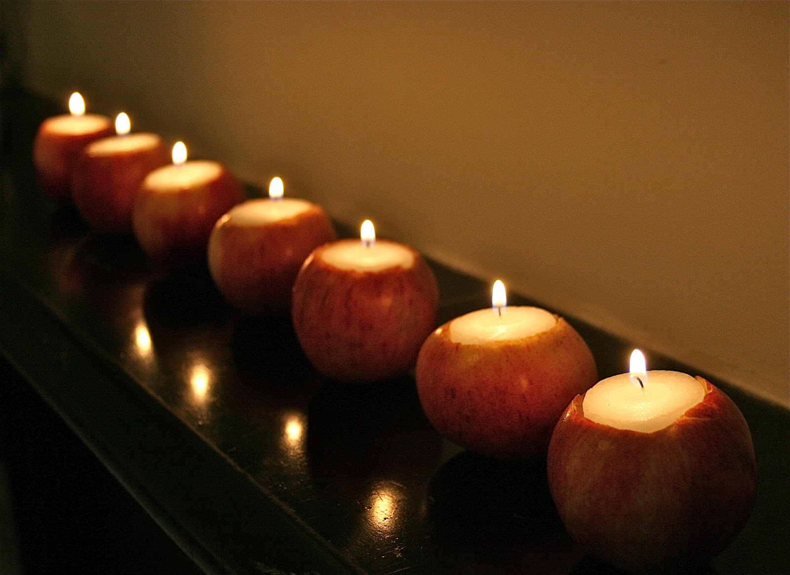 These beautiful apple candles are all natural and perfect for fall