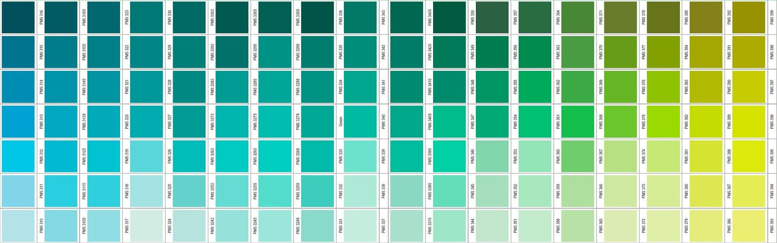 Teor a del color octubre 2017 - Gama de verdes ...