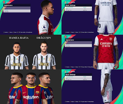PES 2021 Facepack & TattooPack by SR