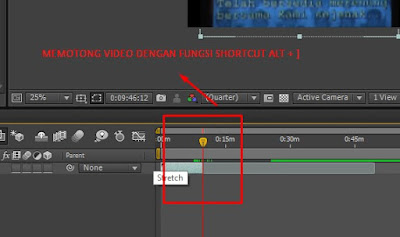 Cara Memotong Video Menggunakan After Effect CS 6 split layer
