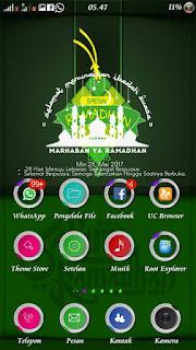 Tema Oppo Nuansa Bulan Ramadhan Mubarok