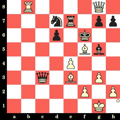 Les Blancs jouent et matent en 4 coups - Oscar Panno vs Gedeon Barcza, Munich, 1958
