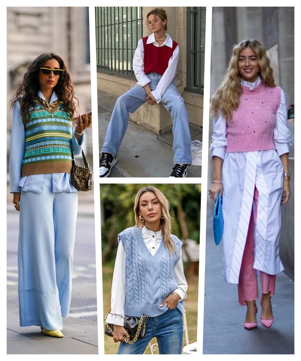 colete de tricô tendência inverno