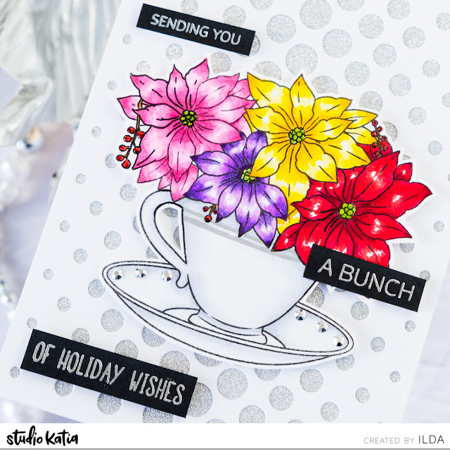 A Cup of Poinsettia Wishes Christmas Card by ilovedoingallthingscrafty.com
