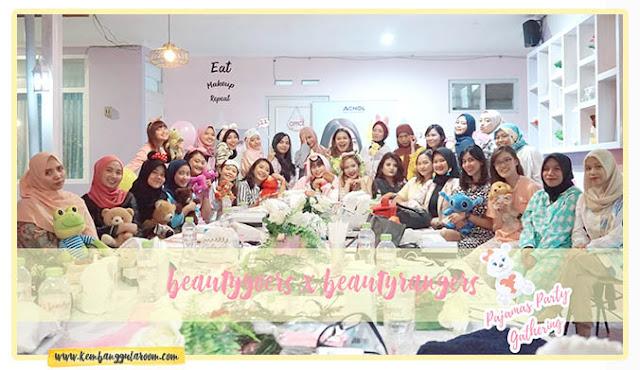 pajamas party gathering beautygoers