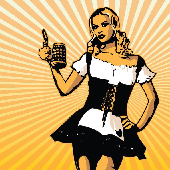 Camarera alemana de cerveza 2 - Vector