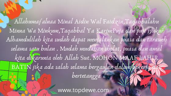 Ucapan Selamat Idul Fitri dan Lebaran Terbaru 1 Syawal 1441H 2020