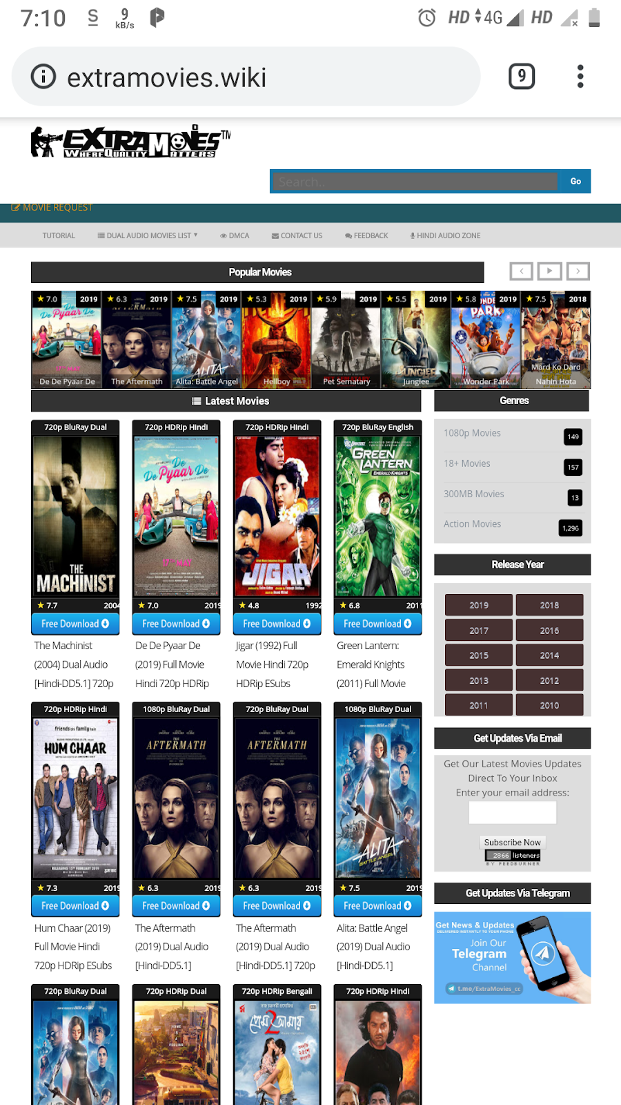 free hollywood movies free download sites