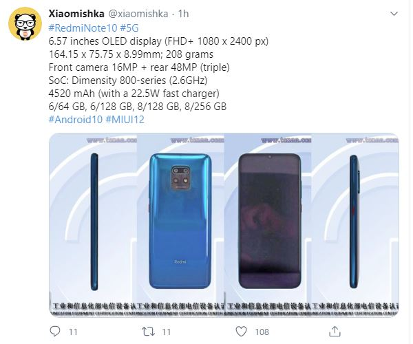 Huge Redmi leak. Redmi Note 10 5G in full detail with features and photos