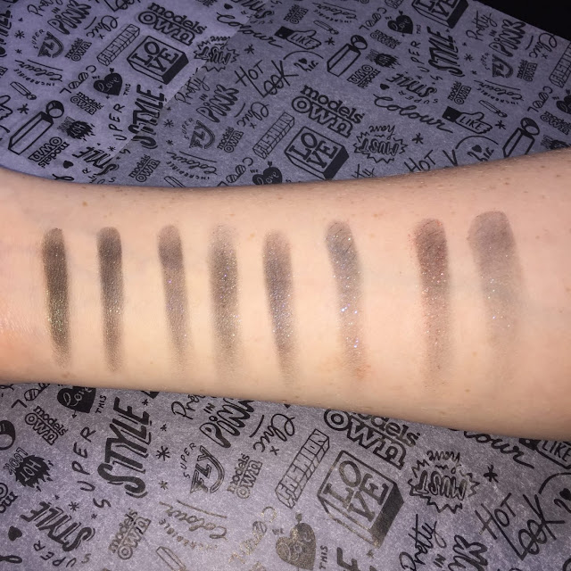 Models Own Holochrome eyeshadow palette swatches